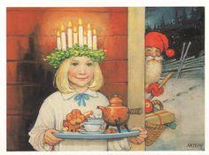 Klassiskt julkort! Någon som känner till konstnär och årtal?