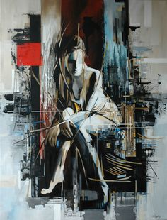 """Saatchi Online Artist: Raquel Martins; Oil, 2011, Painting """"The Red Square"""""""