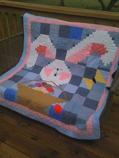 Dyan says Happy (early) Easter with this adorable bunny quilt for her grandkids. It is oh-so-sweet!