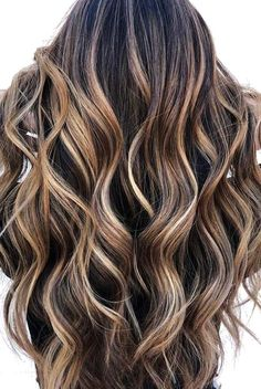 – Baylage Hair Balayage – Beautiful Ombre hair from light brown to dark brown! Ombre Hair Color, Hair Color For Black Hair, Hair Color Balayage, Cool Hair Color, Brown Hair Colors, Balayage Brunette, Balayage Highlights, Brunette Highlights, Color Highlights