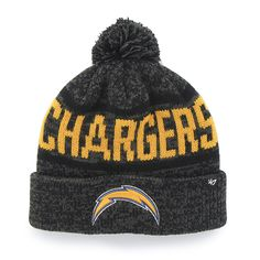 77a47ff3a3991 San Diego Chargers Northmont Cuff Knit Charcoal 47 Brand Hat