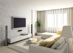 Make Your Living Room Look Bigger | Living room, Small Space #livingroom #smallflat #interiordesign #decoration #homedecor #livingroomdecor