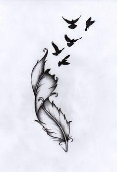 Ou tatoo plume oiseau inscription nonna Unendlichkeitssymbol Tattoos, Kunst Tattoos, Bild Tattoos, Cute Tattoos, Beautiful Tattoos, Body Art Tattoos, Small Tattoos, Sleeve Tattoos, Tatoos