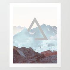 Modern #Mountain Art Print.