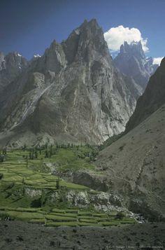 Terraced spur, Hushe Valley, Pakistan - Hushe Valley Pakistan Hushe Valley Pakistan Hushe Valley Pakistan Hushe Valley Pakistan
