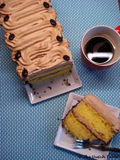 The Dutch Table: Mokkataart (Dutch Mocca Cake) not sure but it looks yummy! Dutch Bakery, Cake Recipes, Dessert Recipes, Dutch Desserts, Mocha Cake, Good Food, Yummy Food, Mocca, Stick Of Butter