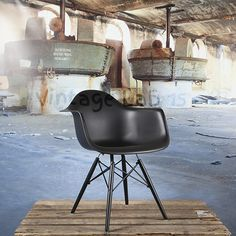 Eetkamerstoelen : Special DAW style stoel zwart - Vintagelab15.com