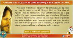 MISIONEROS DE LA PALABRA DIVINA: REFLEXIÓN  - CANTEMOS EL ALELUYA AL DIOS BUENO QUE...