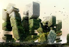 I recently pinned this project, but this is the official link to it. It won second place in the eVolo skyscraper competition in 2010 and in my view takes many very important contemporary issues into account. The images are quite fantastic!