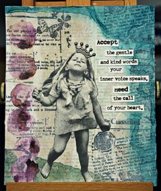Contessa Art and Junque Journal:  Inner Voice ( Tattered Angels Mist, Dictionary Page, Unity Stamp Company)