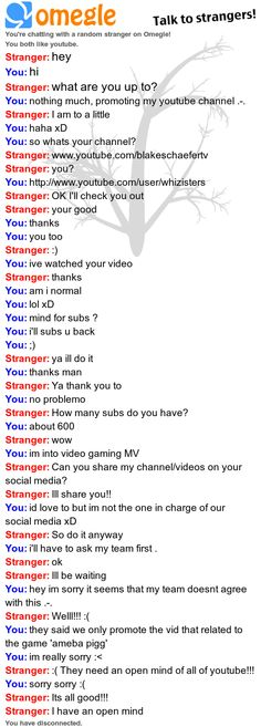 how to meet youtubers on omegle