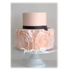 Pink Cake With Large Pink Ruffles