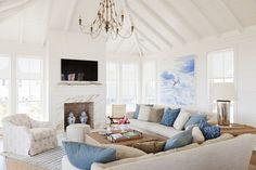 coastal family room by Jenny Keenan Design