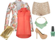 """Sequins & Floral"" by luxy-pixie on Polyvore"