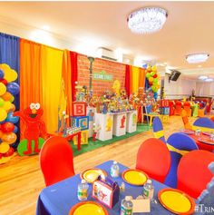 Boys 1st Birthday Party Ideas, Baby Boy 1st Birthday, 1st Boy Birthday, Birthday Party Decorations, Seasame Street Party, Sesame Street Birthday, Sesame Street Centerpiece, Elmo Party, Dec 1st
