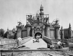 Disney land opens  Google Image Result for http://www.usc.edu/libraries/archives/la/disneyland/sleepbeaut_castle_1955.jpg