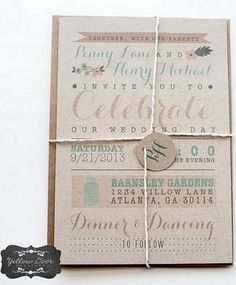 18 Gorgeous Rustic Wedding Invitations | Confetti Daydreams