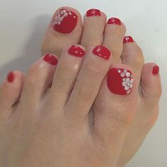 Pedicure Colors, Pedicure Designs, Toe Nail Designs, Mani Pedi, Manicure And Pedicure, Pretty Toe Nails, Cute Toe Nails, Pretty Toes, Toe Nail Art