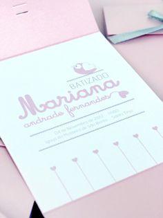 sabores da gula: Convite - Batizado da Mariana