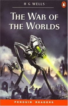 """cover of book """"The war of the worlds"""" by penguin readers and is writen by H.G Wells"""
