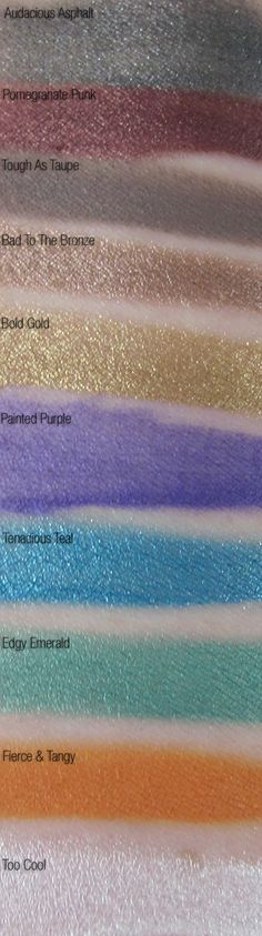 Maybelline Eyestudio Color Tattoo - MUFE aqua cream dupes -- stay away from 'painted purple'