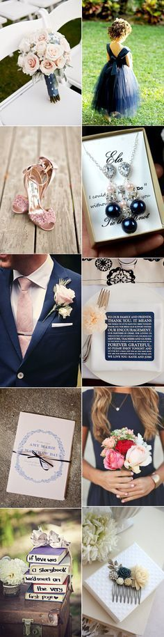 A Chic Navy & Blush Pink Wedding Palette | weddingsonline. The most perfect wedding look