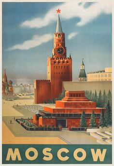 Moscow, USSR vintage poster THIS IS THE WEBSITE WITH ALL THE AMAZING PICTURES!!!