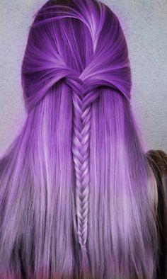 Beautiful purple ombré hair