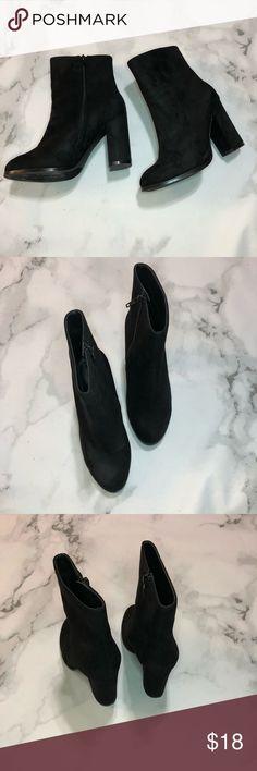 2ca38811399b6c Suede has wear. See  black block heel booties new arrive b5f49 ce93d ...