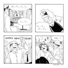 c-cassandra: Happy New Year, everyone! And if you're like me, good luck staying awake until midnight. Cute Comics, Funny Comics, C Cassandra Comics, Cassandra Calin, Funny Comic Strips, First World Problems, Happy New Year Everyone, How To Stay Awake, Canadian Artists