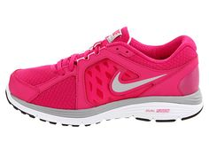 Nike Dual Fusion Run Fireberry/White/Matte Silver/Metallic Silver - Zappos.com Free Shipping BOTH Ways
