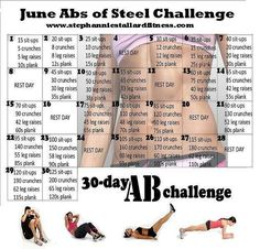 work them abs even if it's not june