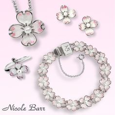 """""""After all, I don't see why I am always asking for private, individual, selfish miracles when every year there are miracles like white dogwood."""" – Anne Morrow Lindbergh You can see our sterling silver collection with pearls or diamonds at: http://www.nicolebarr.com/category/?adv_search=DOGWOOD&submit=Search Or learn more about this delicate flower at: http://www.flowermeaning.com/dogwood-flower-meaning/"""