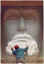 The Christ of the Ozarks memorial statue is tall and is located in Eureka Springs, Arkansas on the grounds of The Great Passion Play. Eureka Springs, Sculpting, Christ, Memories, Face, Painting, Memoirs, Sculpture, Souvenirs