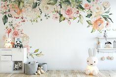Flower Mural, Flower Wall, Bedroom Murals, Wall Murals, Wall Decal, Girls Bedroom Mural, Bedroom Sets, Wall Art, Romantic Flowers