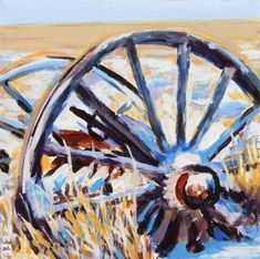 Acrylic, inches, 2019 Never saw so many old wagons before or since my time in the Frenchman River Valley in Saskatchewan. It felt like a tangible link to another era. Old Wagons, No Time For Me, Stuff To Do, Wolf, River, Gallery, Link, Painting, Art
