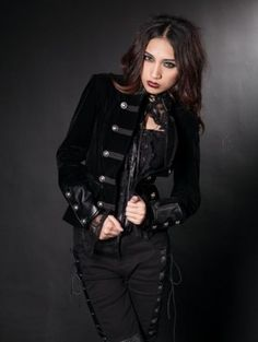 bfad3157ca Fashion Black Gothic Jacket for Women Punk Outfits