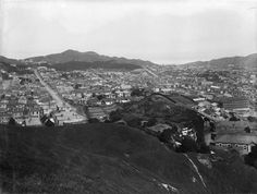 View of Newtown, Wellington, [ca 1910] Reference Number: 1/1-019876-G View of Newtown, showing eft to right) Owen, Daniell and Riddiford Streets. The orphanage, Florence Booth Home, can be seen at the top of Owen Street. Photographed by Sydney Charles Smith, circa 1910.