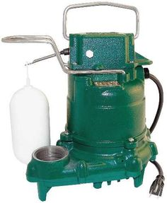 Zoeller M53 Mighty-mate Submersible Sump Pump, 1/3 Hp - Zoeller Pump Co. M-53 Mighty Mate clear effluent or dewatering submersible pump. Choice of many plumbers and contractors. 1/3 HP cast iron housing with plastic vortex impeller. 9ft. power cord. Truely a all star pump. Powder coated epoxy CI and SS fastners. Oil filled motor with thermal overload....