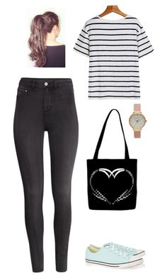 Untitled #233 by zozoda7 on Polyvore featuring polyvore, fashion, style, H&M, Converse and Olivia Burton