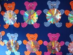 bear clock craft idea (8)