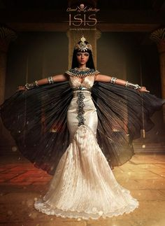 Isis the egyptian goddess Egyptian Costume, Pharaoh Costume, Cleopatra Costume, Isis Goddess, Egypt Art, Halloween Disfraces, Gods And Goddesses, Ball Jointed Dolls, Beautiful Dolls
