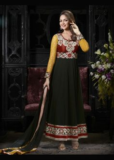 Buy Bollywood Ankle Length Anarkali Suit US$ 71.83 Shop at - bollywood-ankle-length-anarkali.blogspot.co.uk/2014/03/buy-bollywood-ankle-length-anarkali.html