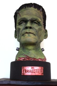 Frankenstein and his splitting headache! - Cake by Delicut Cakes                                                                                                                                                                                 Plus