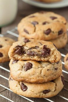 Gluten-Free Chocolate Chip Cookies recipe loaded with chocolate. Soft, chewy, and heavenly. Gluten Free Sweets, Gluten Free Baking, Gluten Free Recipes, Baking Recipes, Cookie Recipes, Dessert Recipes, Gluten Free Chocolate Chip Cookies, Gluten Free Cookies, Just Desserts