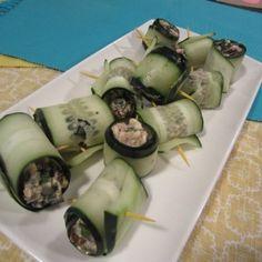 feta cucumber roll ups