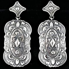 Darryl Becenti Sterling Silver Earrings