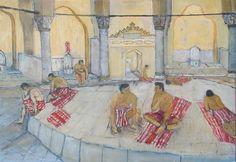 Turkish bath and men
