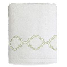 Trellis Embroidered Soft Twist Hand Towel