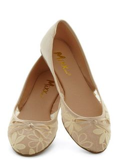 Gossamer Girls Flat in Almond. Where you lead, fashionistas will follow as long as you're wearing these almond-hued ballet flats! #tan #modcloth